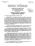 Agriculture News Release - 1993-11-03