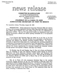 Agriculture News Release - 1993-08-26