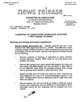 Agriculture News Release - 1993-11-23