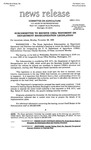 Agriculture News Release - 1993-11-29