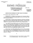 Agriculture News Release - 1993-12-02