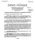 Agriculture News Release - 1993-11-10b