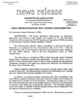 Agriculture News Release - 1994-02-08 by United States. Congress. House. Committee on Agriculture and E. De la Garza