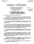 Agriculture News Release - 1994-02-24 by United States. Congress. House. Committee on Agriculture and E. De la Garza