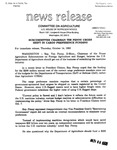 Agriculture News Release - 1993-10-14