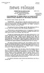 Agriculture News Release - 1994-04-26 by United States. Congress. House. Committee on Agriculture and E. De la Garza