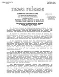 Agriculture News Release - 1994-05-03 by United States. Congress. House. Committee on Agriculture and E. De la Garza