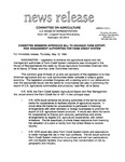 Agriculture News Release - 1994-05-12 by United States. Congress. House. Committee on Agriculture and E. De la Garza