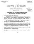 Agriculture News Release - 1994-05-13 by United States. Congress. House. Committee on Agriculture and E. De la Garza