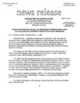 Agriculture News Release - 1994-05-17 by United States. Congress. House. Committee on Agriculture and E. De la Garza