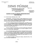 Agriculture News Release - 1994-05-18 by United States. Congress. House. Committee on Agriculture and E. De la Garza