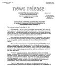Agriculture News Release - 1994-05-20 by United States. Congress. House. Committee on Agriculture and E. De la Garza