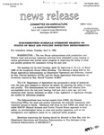 Agriculture News Release - 1994-04-05b by United States. Congress. House. Committee on Agriculture and E. De la Garza