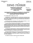 Agriculture News Release - 1994-06-07 by United States. Congress. House. Committee on Agriculture and E. De la Garza