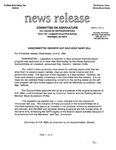 Agriculture News Release - 1994-06-08 by United States. Congress. House. Committee on Agriculture and E. De la Garza