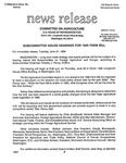 Agriculture News Release - 1994-06-21 by United States. Congress. House. Committee on Agriculture and E. De la Garza