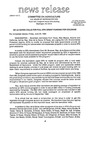 Agriculture News Release - 1994-06-24 by United States. Congress. House. Committee on Agriculture and E. De la Garza