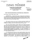 Agriculture News Release - 1994-04-14 by United States. Congress. House. Committee on Agriculture and E. De la Garza
