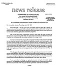 Agriculture News Release - 1994-06-30 by United States. Congress. House. Committee on Agriculture and E. De la Garza