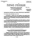 Agriculture News Release - 1994-07-27a by United States. Congress. House. Committee on Agriculture and E. De la Garza