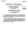 Agriculture News Release - 1994-08-02b by United States. Congress. House. Committee on Agriculture and E. De la Garza