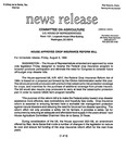 Agriculture News Release - 1994-08-05 by United States. Congress. House. Committee on Agriculture and E. De la Garza