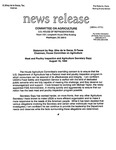 Agriculture News Release - 1994-08-10 by United States. Congress. House. Committee on Agriculture and E. De la Garza