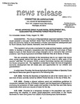 Agriculture News Release - 1994-08-12a by United States. Congress. House. Committee on Agriculture and E. De la Garza