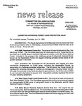 Agriculture News Release - 1994-07-14 by United States. Congress. House. Committee on Agriculture and E. De la Garza