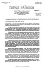 Agriculture News Release - 1994-08-12b by United States. Congress. House. Committee on Agriculture and E. De la Garza