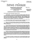 Agriculture News Release - 1994-08-24 by United States. Congress. House. Committee on Agriculture and E. De la Garza