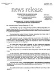 Agriculture News Release - 1994-09-27a by United States. Congress. House. Committee on Agriculture and E. De la Garza