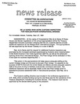 Agriculture News Release - 1994-09-27b by United States. Congress. House. Committee on Agriculture and E. De la Garza