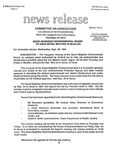 Agriculture News Release - 1994-09-28a by United States. Congress. House. Committee on Agriculture and E. De la Garza