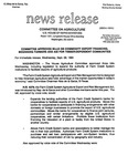 Agriculture News Release - 1994-09-28b by United States. Congress. House. Committee on Agriculture and E. De la Garza