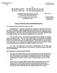 Agriculture News Release - 1994-09-28c by United States. Congress. House. Committee on Agriculture and E. De la Garza