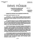 Agriculture News Release - 1994-07-20 by United States. Congress. House. Committee on Agriculture and E. De la Garza
