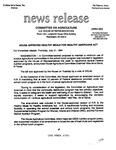 Agriculture News Release - 1994-07-21 by United States. Congress. House. Committee on Agriculture and E. De la Garza