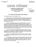 Agriculture News Release - 1994-12-02