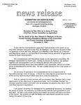 Agriculture News Release - 1994-12-08a