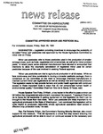 Agriculture News Release - 1994-09-30 by United States. Congress. House. Committee on Agriculture and E. De la Garza