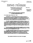 Agriculture News Release - 1994-10-03b