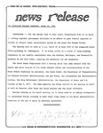 News Release - 1981-03-19