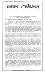News Release - 1992-03-25a by E. De la Garza