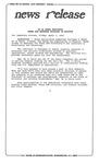 News Release - 1992-04-03c by E. De la Garza
