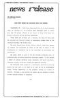 News Release - 1992-04-22 by E. De la Garza