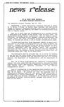 News Release - 1992-05-19 by E. De la Garza