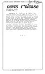 News Release - 1992-10-30b