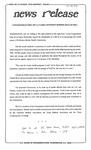 News Release - 1993-07-14 by E. De la Garza
