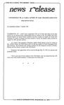 News Release - 1993-10-07 by E. De la Garza
